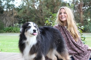 brigette warne dog massage and animal therapist with client